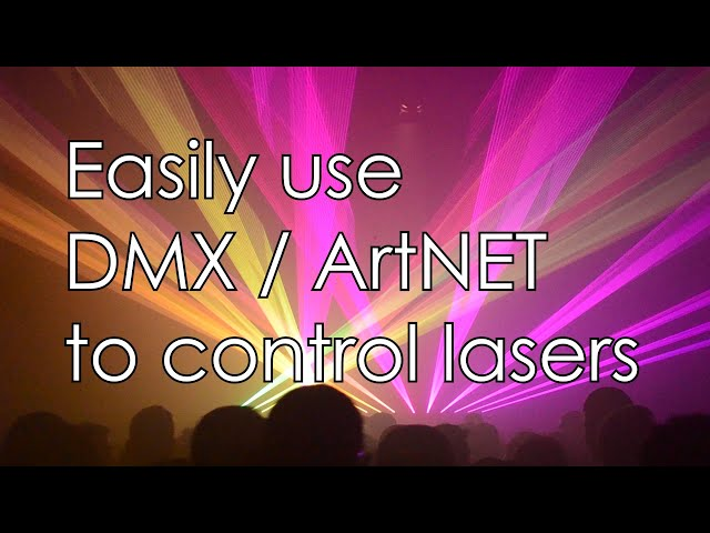DMX / ArtNET control lasers in a professional way - with ShowNET laser mainboard