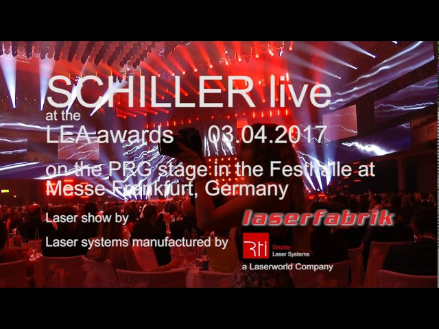 SCHILLER at the PRG LEA Award | Laserworld, laserfabrik