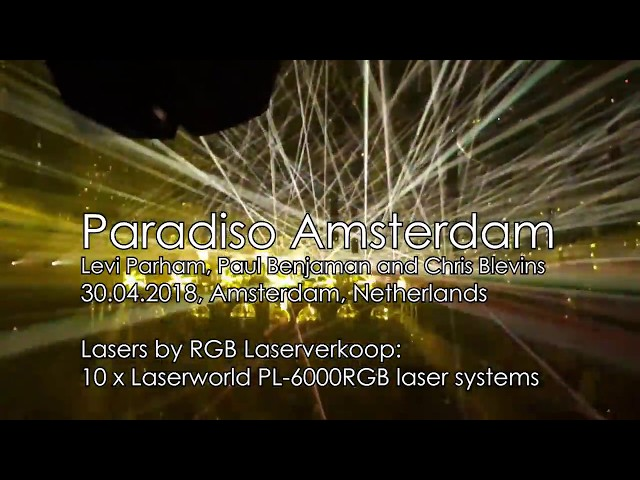 Paradiso Amsterdam - Laser show to sets of Levi Parham, Paul Benjaman, Chris Blevins | Laserworld
