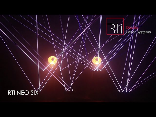 RTI NEO SIX laser array with scanners - pure DMX control | RTI, Laserworld