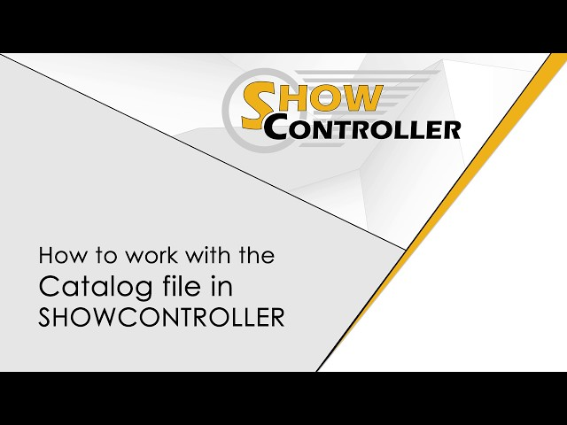 How to work with the Catalog File in Showcontroller - explained | Laserworld