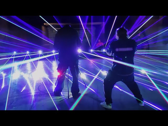 Awesome lasers, awesome team! The RTI team feat. RTI NANO RGB 45 high power lasers | RTI