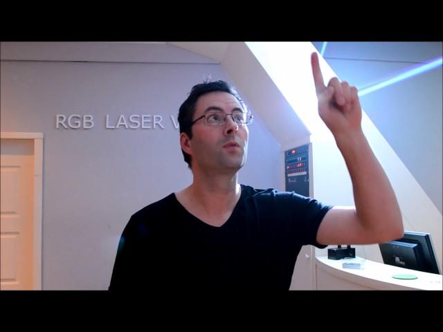 10W RGB Laser test