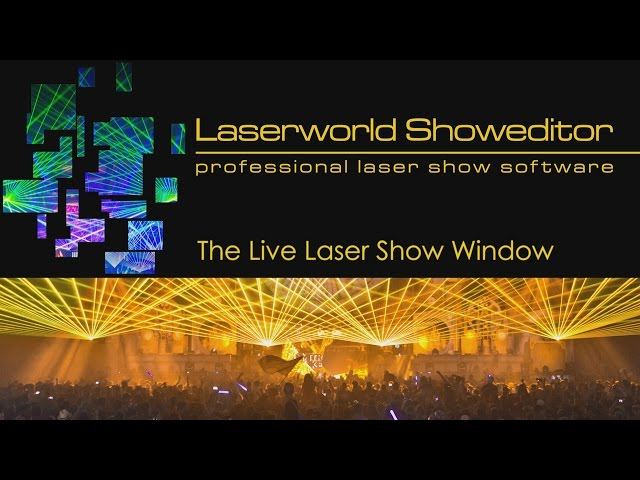 05. Live Laser Show Window - Laserworld Showeditor Laser Show Software Tutorial Video