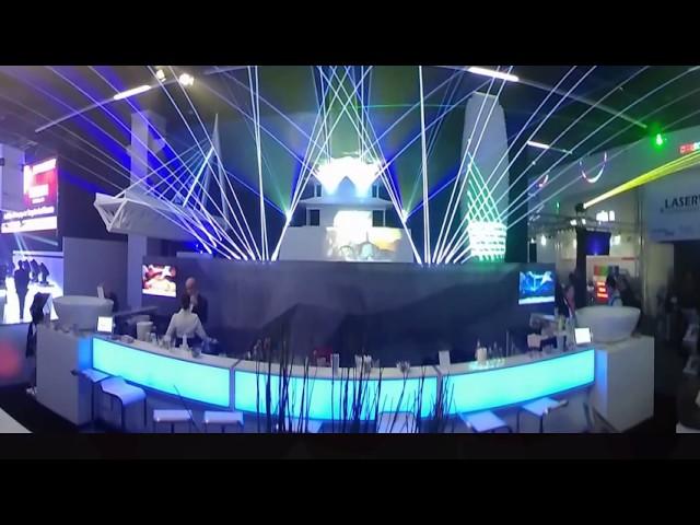 360° view of the Laserworld booth at prolight+sound 2017 | Laserworld