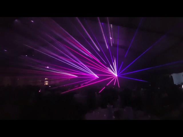 Laser-Show mit 3 Lasern von Laserworld DS 3300 RGB mieten, dd show & eventgroup aus Leipzig