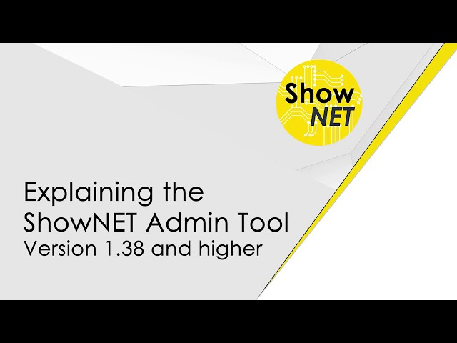 ShowNET Admin Tool 1.38 explained, including Zone Setting and Setup & Store mode | Laserworld
