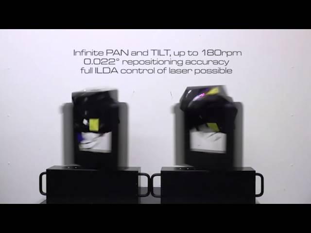 RTI VELOX RGB 2.5 - laser moving head with infinite PAN and infinite TILT   Laserworld