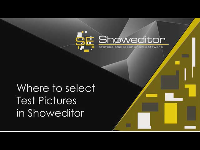 Where to select Test Pictures in Showeditor
